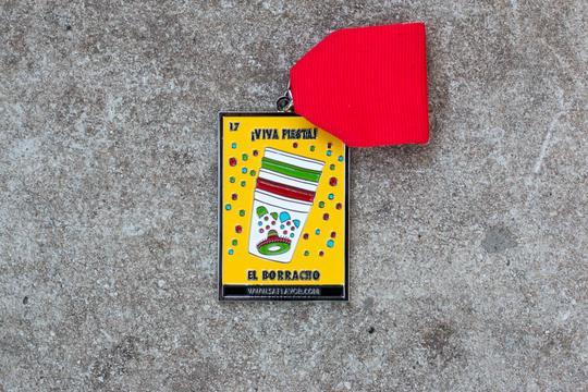 El Borracho Loteria Card Fiesta Medal